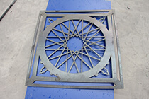 cnc plasma cutter cutting sample