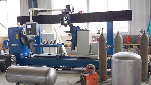 Application examples for tank circumferential seam welding machine