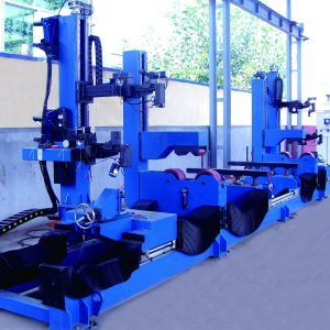 Automatic four torch pipe flange circumferential seam welding machine