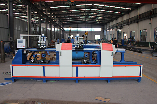 Automatic pipe flange circular seam welder rack