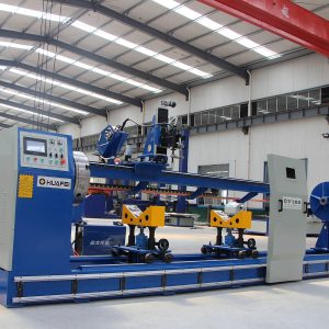 Hydraulic cylinder circumferential seam welder for sale