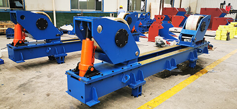 Hydraulic welding pipe rotator
