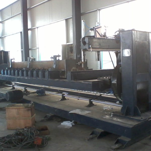 Lifting double column welding positioner rotating table