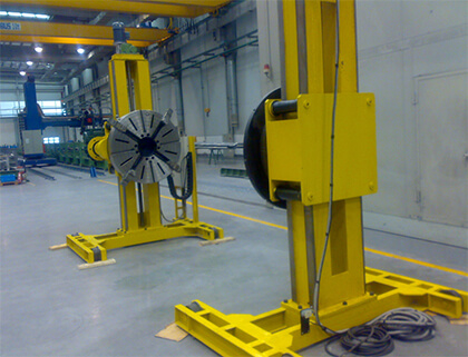 Lifting double column welding rotating table