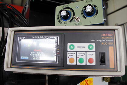 automatic longitudinal seam welder arc length tracker