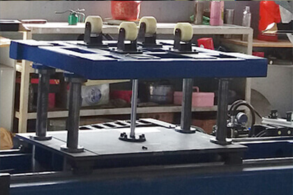automatic longitudinal seam welder loading trolley