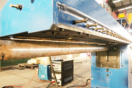 automatic longitudinal seam welder mandrel