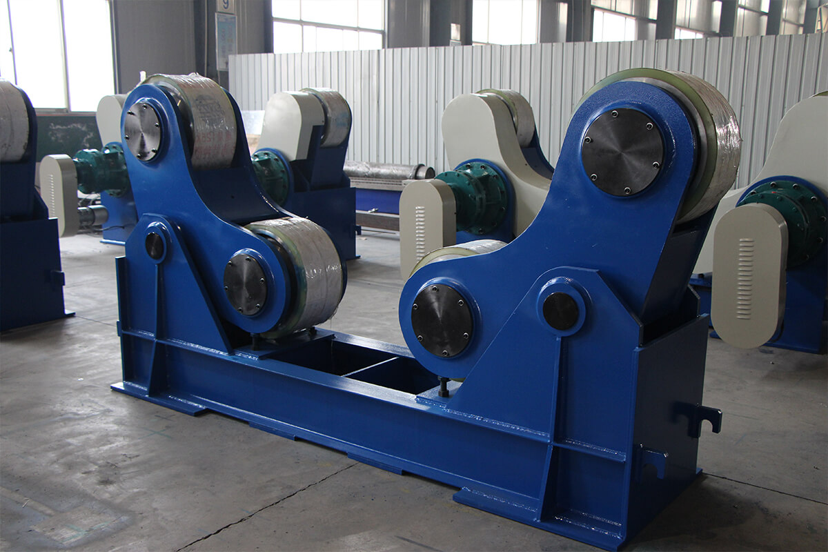 How should the welding rotators be installed