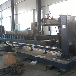 Lifting double column welding positioner