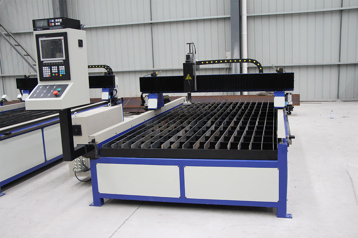 What is the role of the gas used by the CNC plasma cutter
