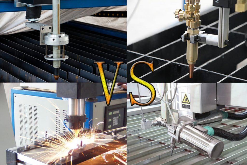 plasma cutting VS laser cutting VS water jet cutting VS oxyfuel cutting