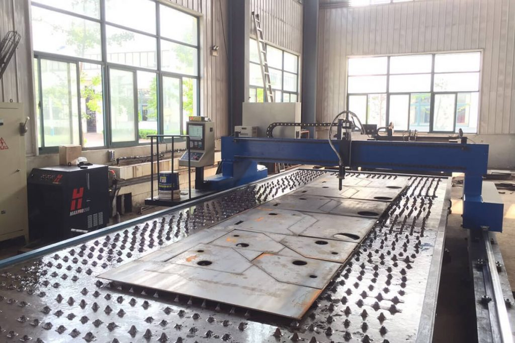 cnc plasma cutter with water table